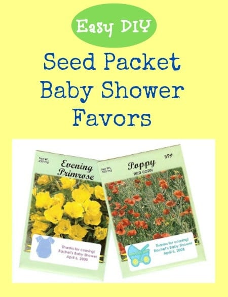 Easy DIY Seed Packet Baby Shower Favors