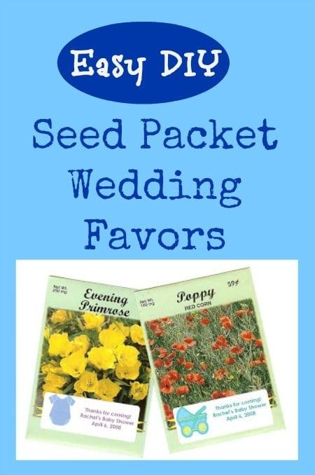 Easy DIY Seed Packet Wedding Favors