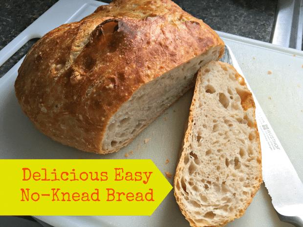 no knead bread post promo graphic