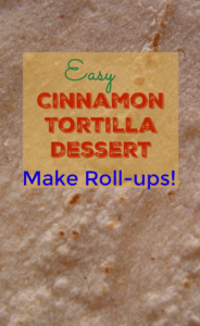 Easy Cinnamon Tortilla Dessert – Make Roll-ups!