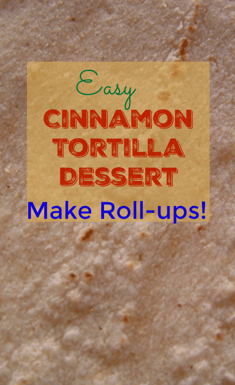 Easy Cinnamon Tortilla Dessert - Make Roll-ups!