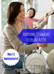 Homemade Dishwasher Detergent Recipe