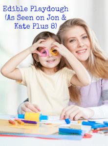 Edible Playdough – Thanks to Jon and Kate Plus 8 play dough