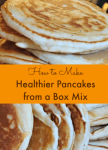 Healthier Pancakes from a Mix