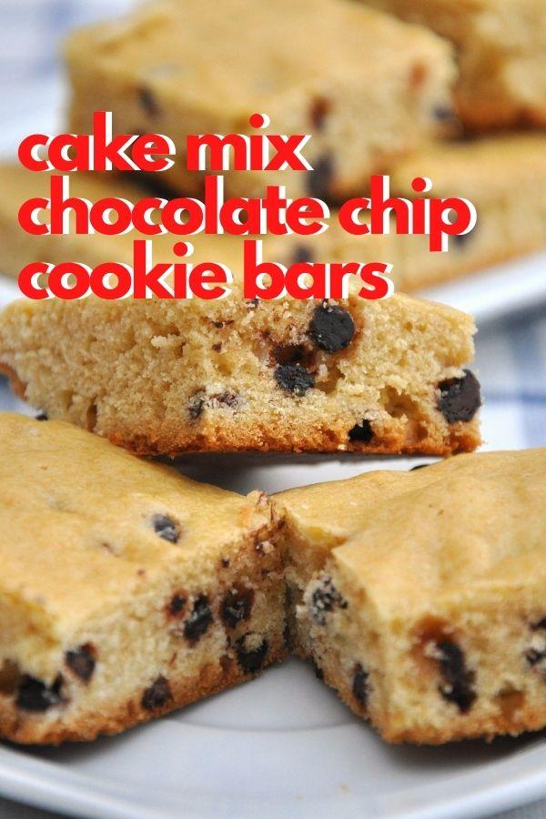 cake mix chocolate chip cookie bars