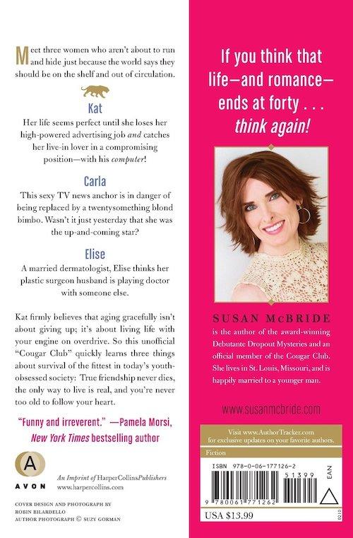 The Cougar Club Book Back Cover Susan McBride