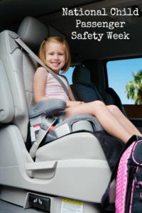 National Child Passenger Safety Week – 9/19 – 9/25 – National Seat Check Saturday