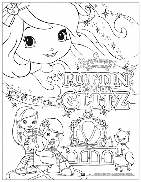 Strawberry Shortcake Puttin on the Glitz Free Coloring Page