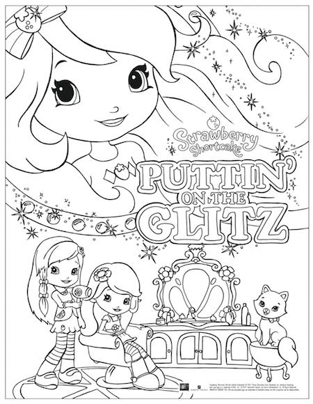 Strawberry Shortcake: Puttin\' on The Glitz - FREE Printable Coloring ...