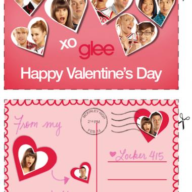 Free GLEE Printable Valentines