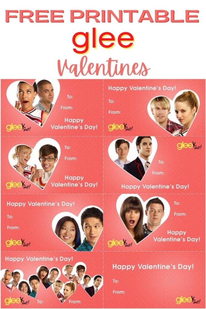 Free Printable Glee Valentines