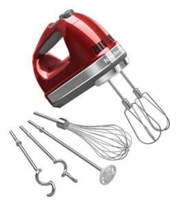 KitchenAid 7-Speed Hand Mixer-Candy Apple Red