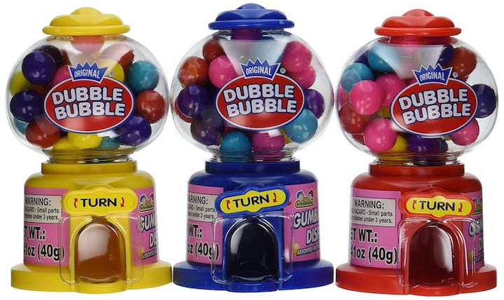 tiny bubblegum machines