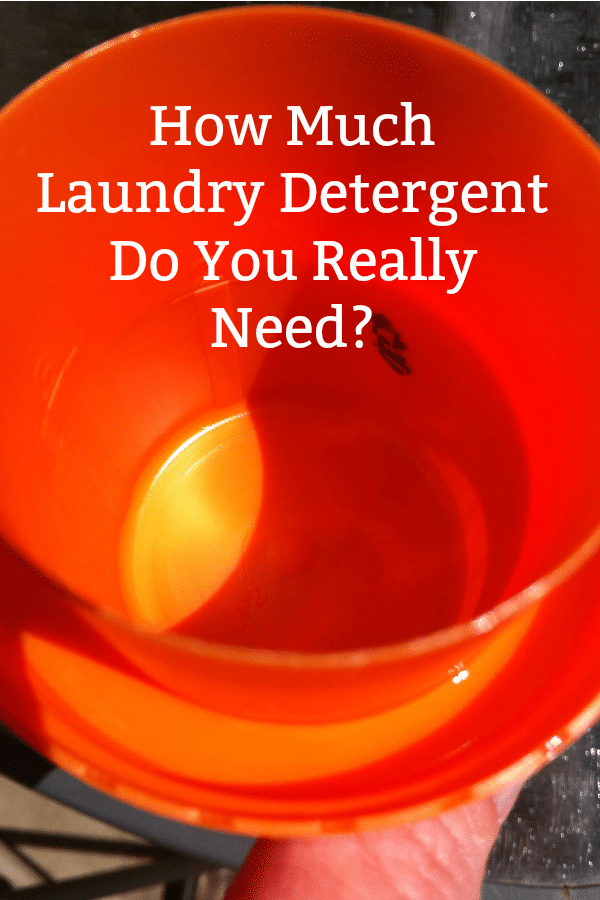 How much laundry detergent do you really need?