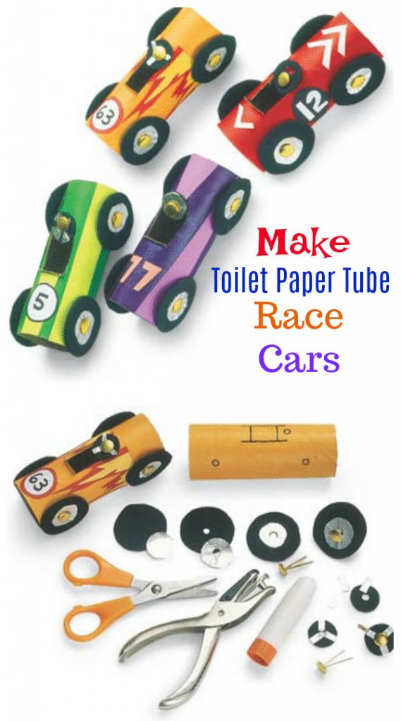 Make Toilet Paper Tube Race Cars