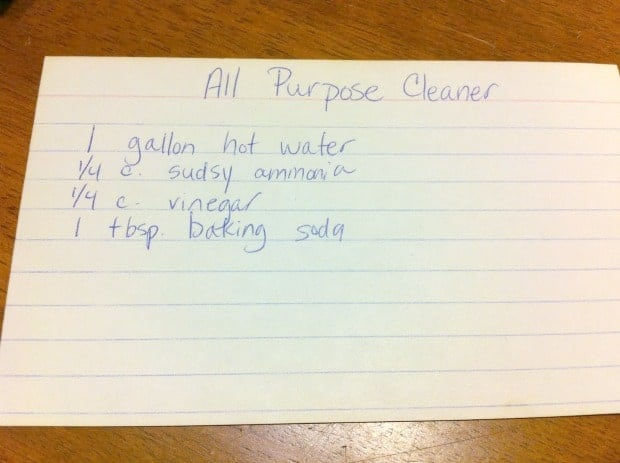 All Purpose Cleaner Recipe