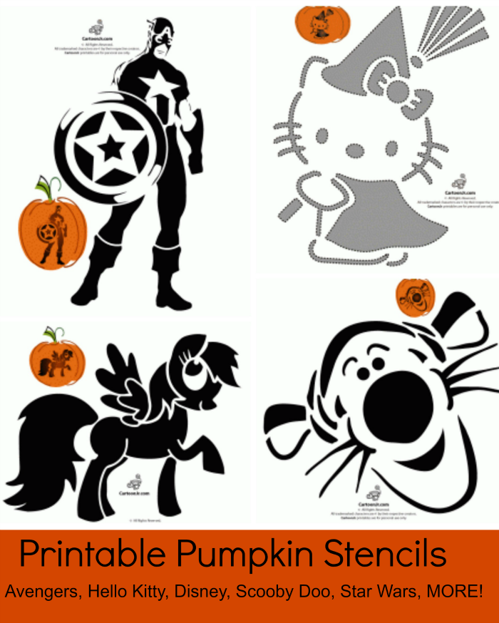 free printable pumpkin stencil patterns disney hello kitty star wars the avengers and more jinxy kids - Free Kids Stencils