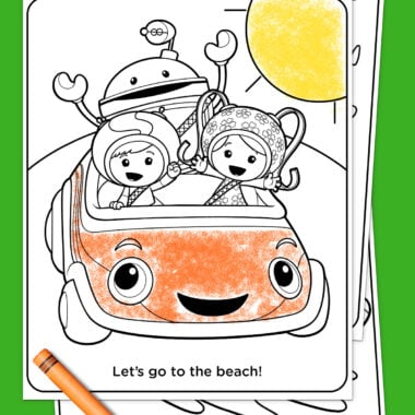 team Umizoomi summertime coloring sheets
