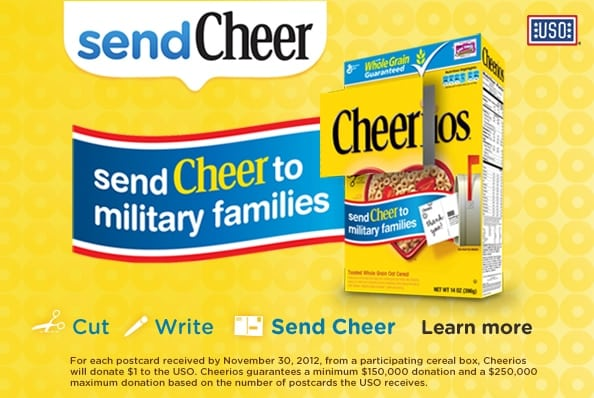 Send Cheer to Military Families with Cheerios