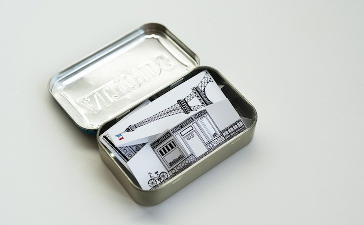 Printable City of Paris in Mint Tin