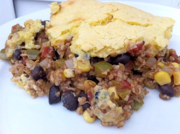 vegetarian tamale pie bulgur wheat