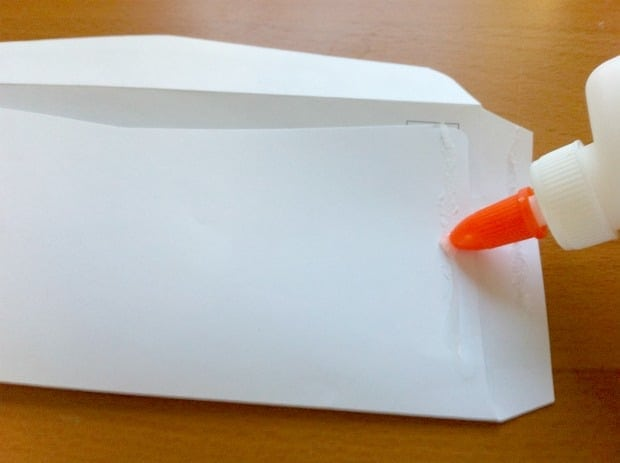 junk mail envelope upcycle