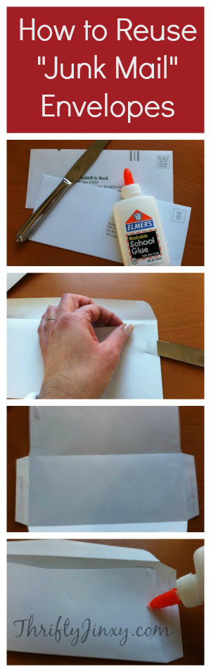 "How to Reuse ""Junk Mail"" Envelopes"
