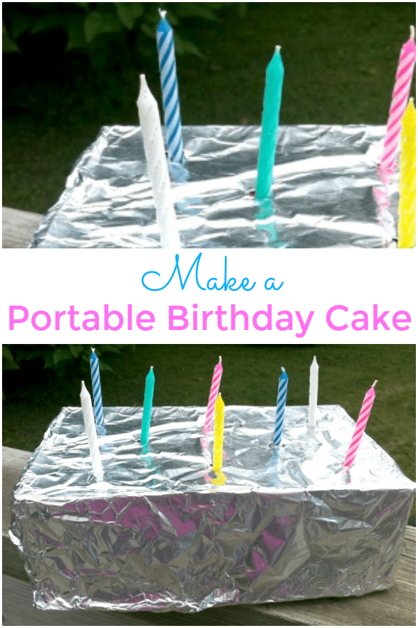 How To Make An Easy Portable Birthday Cake Yes You Can Eat It