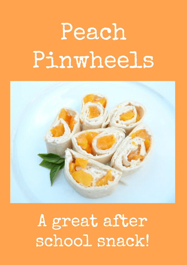 Peach Pinwheels After School Snack