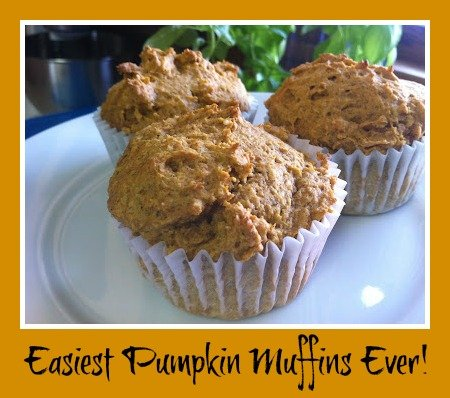 Super Easy Pumpkin Muffins from Cake Mix