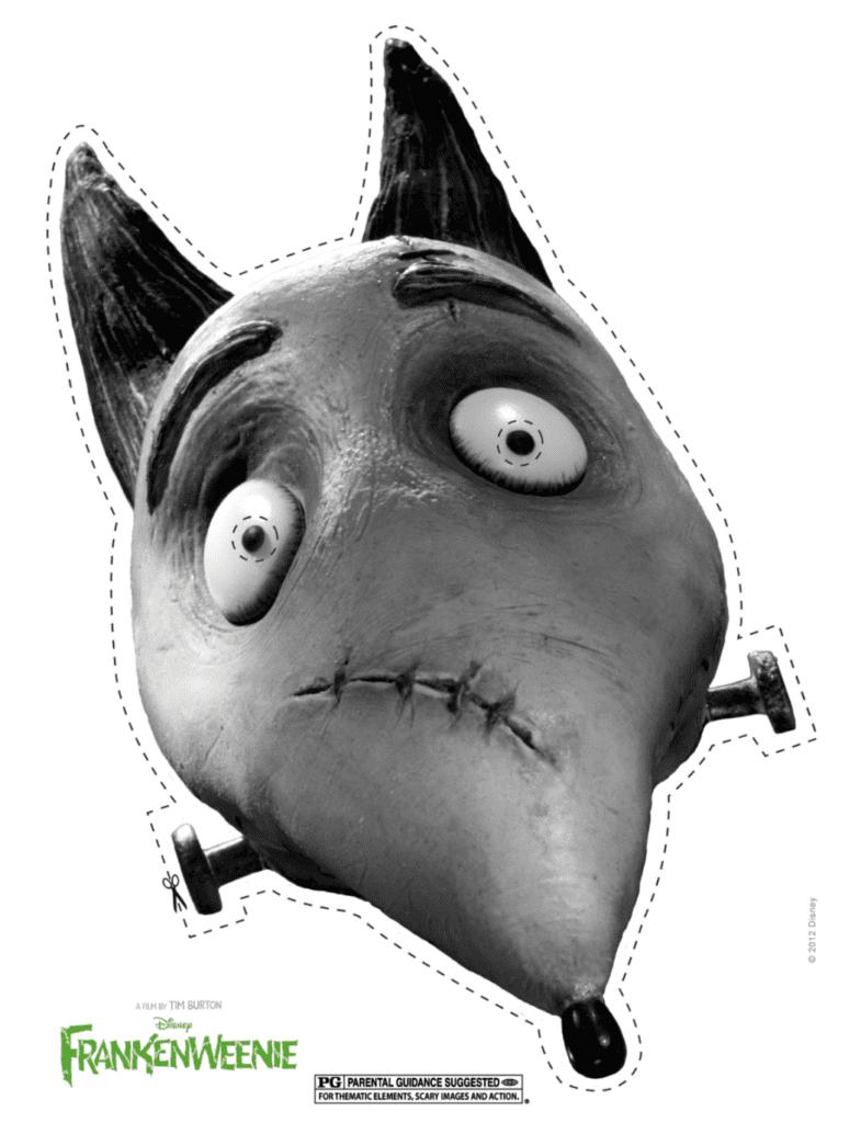 Printable Frankenweenie Mask