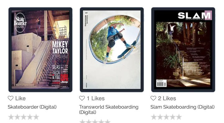 skateboard magazine deals