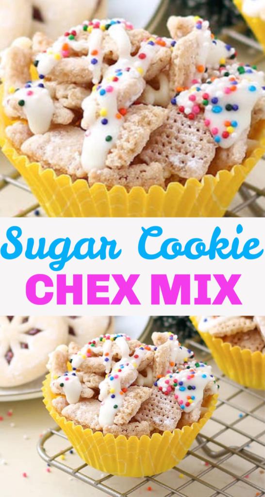 Sugar Cookie Chex Mix Recipe
