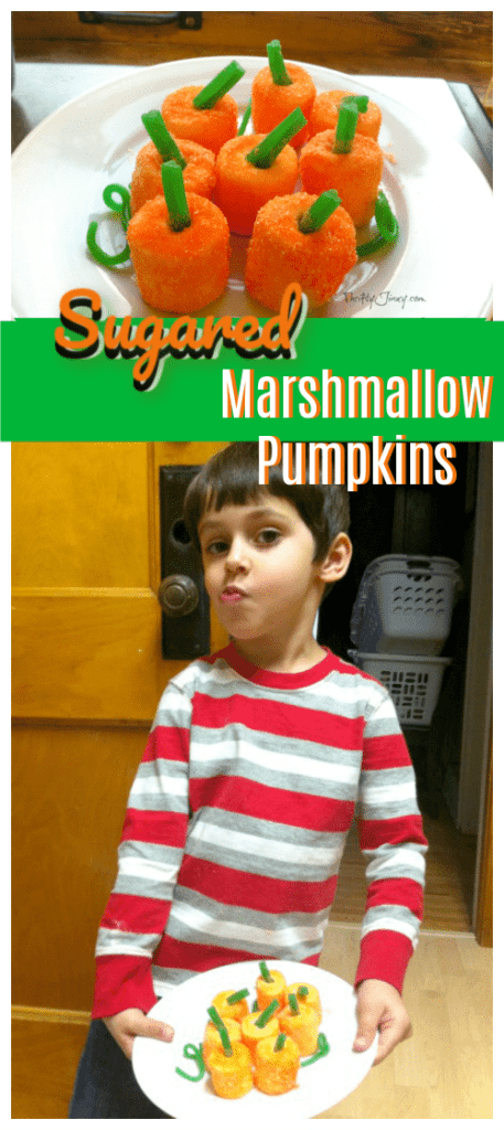 Sugared Marshmallow Pumpkins