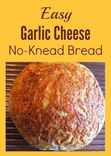 Easy Garlic Cheese No Knead Bread Recipe Thrifty Jinxy