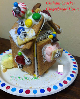Make A Graham Cracker Gingerbread House With A Milk Carton
