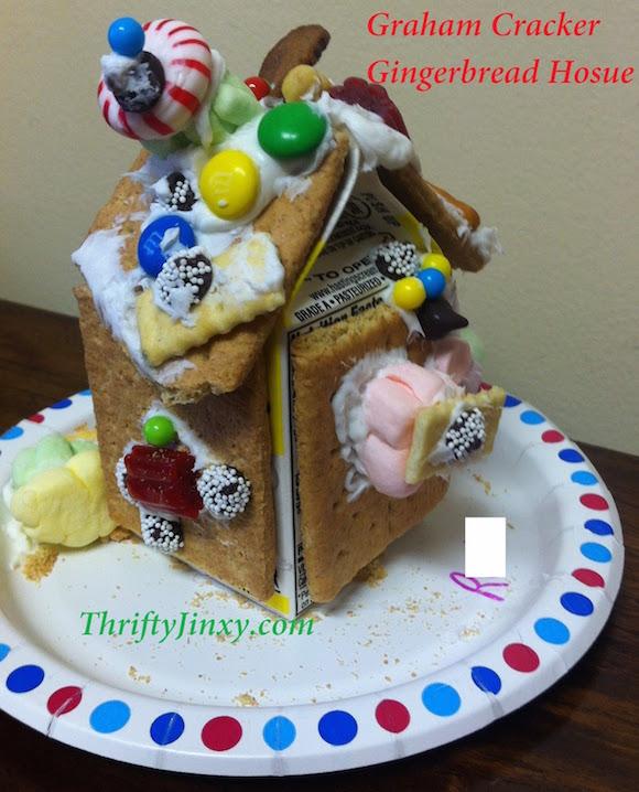 Graham Cracker Gingerbread House with Milk Carton