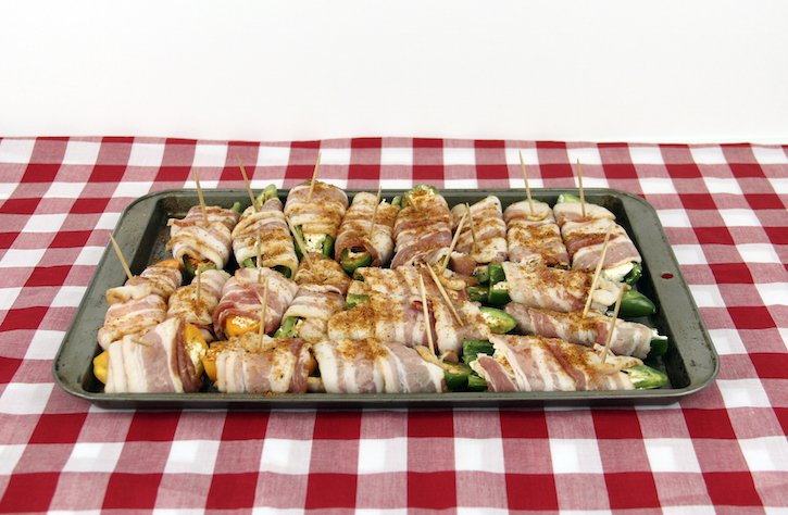 Jalapeno Peppers wrapped in bacon
