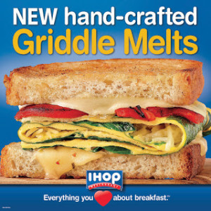 New Griddle Melts at IHOP – YUM! Review and $25 Gift Card Reader Giveaway