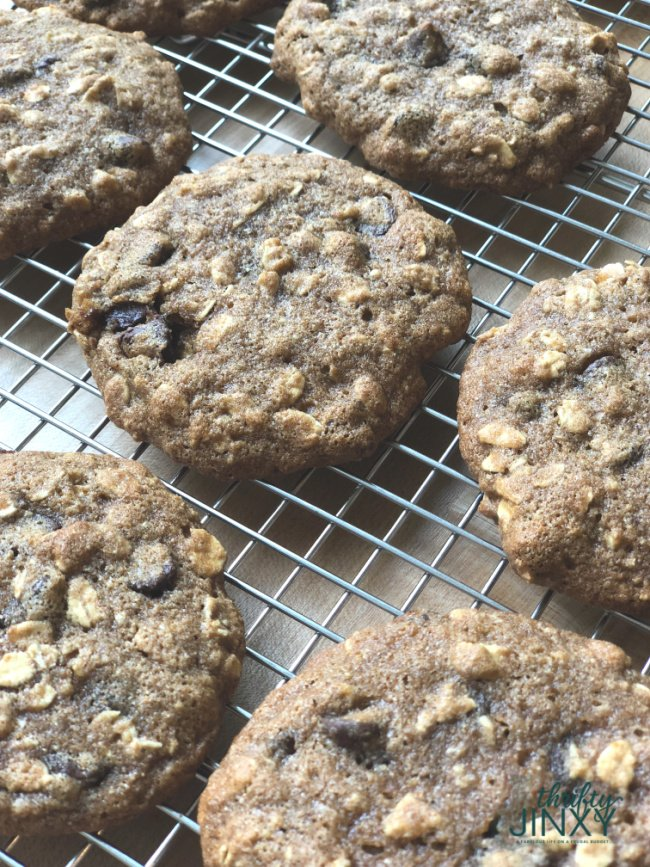 Healthy Oatmeal Cookies Close Up