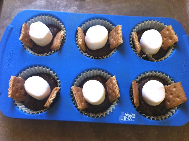 Making Smores Cupcakes