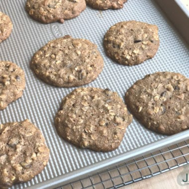 Oatmeal Breakfast Cookies on Pan