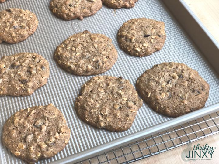 Oatmeal Breakfast Cookies on Pan