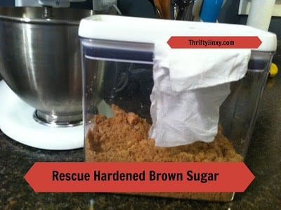 How to Save Hardened Brown Sugar – Paper Towel to the Rescue!