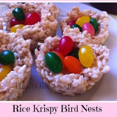 Rice Krispy Bird Nests