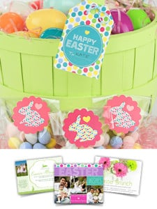 FREE Printable Easter Basket Tags and Party Circles