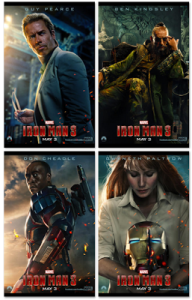 IRON MAN 3 – Check Out the New Posters and See the New Trailer Tuesday