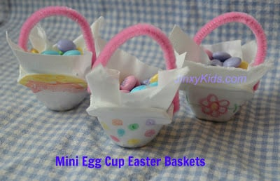Fun Craft Project for Kids: Make Mini Egg Cup Easter Baskets