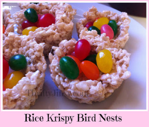 Rice Krispy Bird Nests – An Edible Easter Basket!