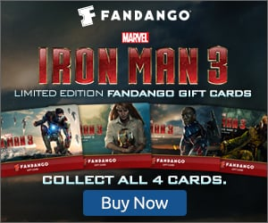 Get Limited Edition Fandango Iron Man 3 Collectible Gift Cards #IronMan3Event